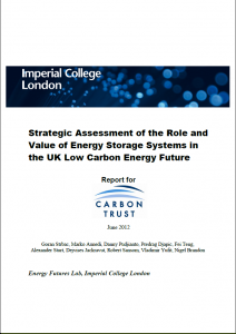 Cover - Strategic Assessment of the Role and Value of ES systems